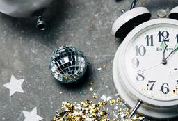 Clock Striking Midnight on New Year's  image 1