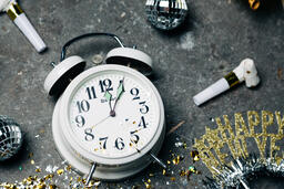 Clock Striking Midnight on New Year's  image 6