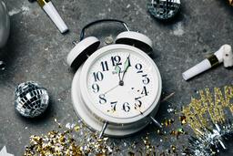 Clock Striking Midnight on New Year's  image 2