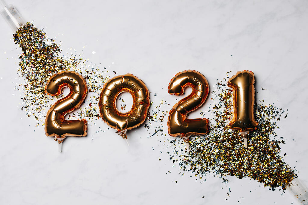 Metallic 2021 Balloons with Confetti Poppers large preview