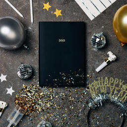 2021 Notebook with New Year's Eve Party Items  image 2
