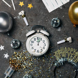 Clock Striking Midnight on New Year's  image 4