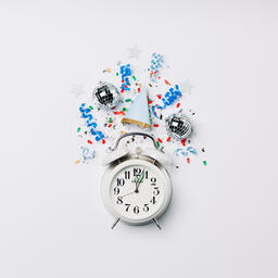 Clock Striking Midnight with Confetti  image 3