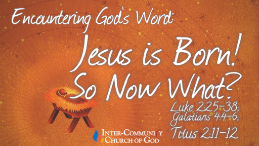 Jesus is Born! So Now What?