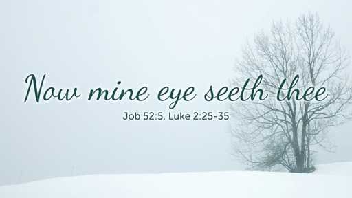 Now mine eye seeth thee