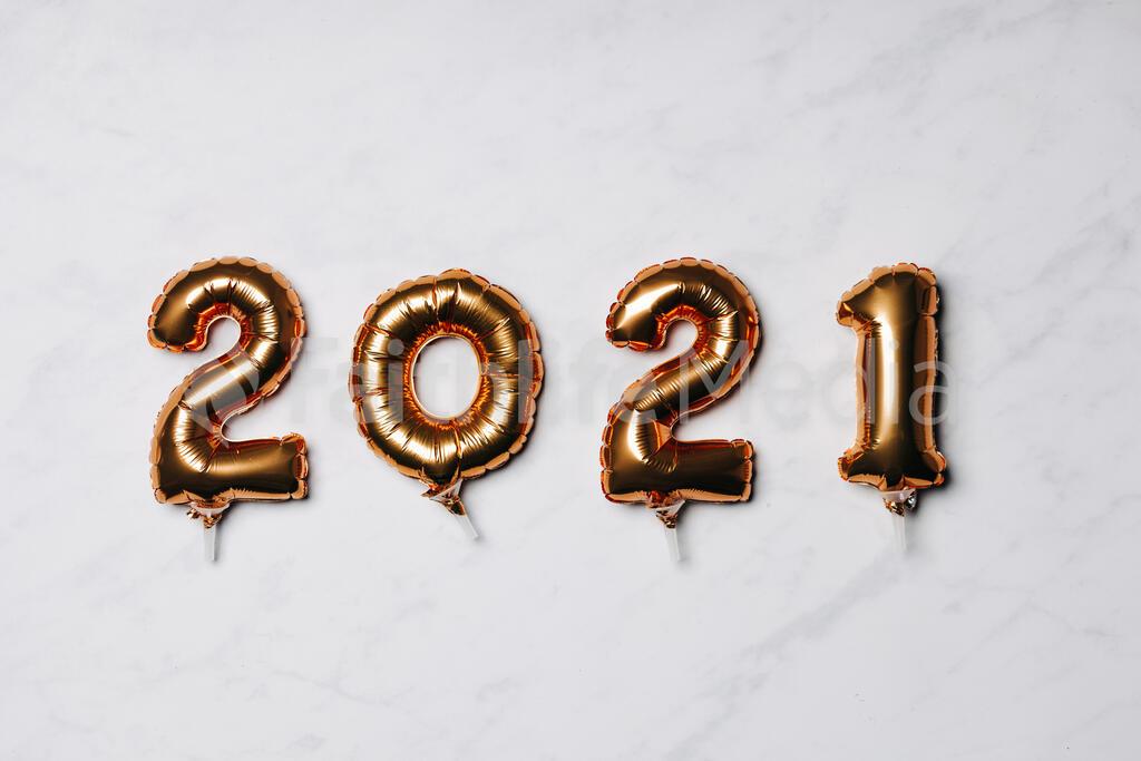 Metallic 2021 Balloons large preview