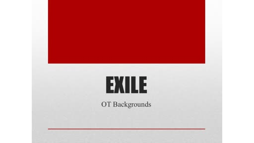 OT Backgrounds: 12: Exile Persia