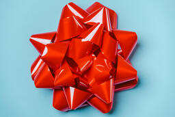 Large Red Gift Bow  image 2