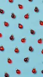 Mini Red Christmas Ornaments  image 1