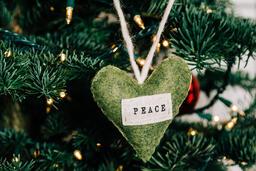 Peace Christmas Ornament  image 1