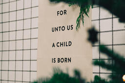 For Unto Us a Child is Born Banner  image 6