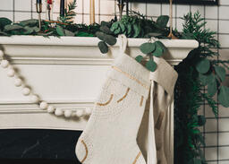 Fireplace Mantle with Stockings  image 8