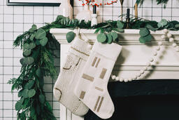 Fireplace Mantle with Stockings  image 6