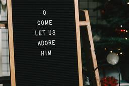 O Come Let Us Adore Him Letter Board  image 2