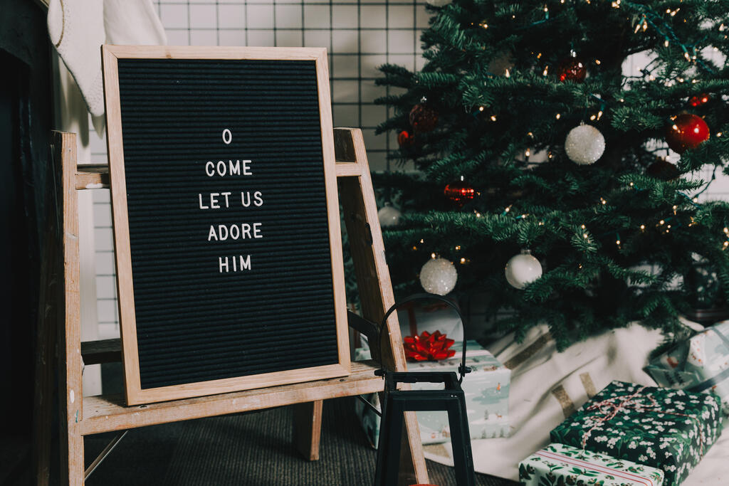 O Come Let Us Adore Him Letter Board large preview