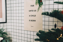 For Unto Us a Child is Born Banner  image 7