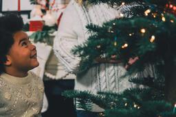 Child Decorating the Christmas Tree  image 3