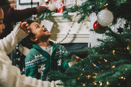Kids Decorating the Christmas Tree Together  image 7