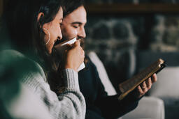 Husband and Wife Reading the Bible Together  image 6