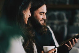 Husband and Wife Reading the Bible Together  image 5