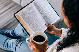 Woman Reading the Bible with a Cup of Coffee  image 6