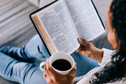 Woman Reading the Bible with a Cup of Coffee  image 4