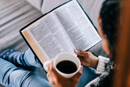 Woman Reading the Bible with a Cup of Coffee  image 5