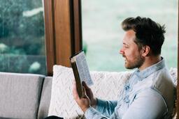 Man Reading the Bible  image 1
