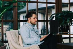 Man Working on a Laptop  image 2