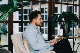Man Working on a Laptop  image 3