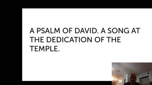 Wed. Dec. 30,  '20 Evening PPT Psalm 30