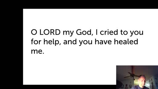 Thurs.  Dec. 31,  '20 Morning PPT Psalm 30
