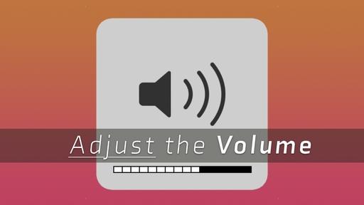 Adjust the Volume
