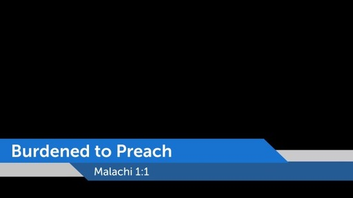 Burdened to Preach