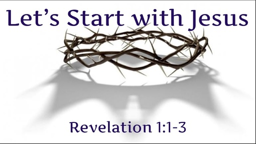 01-03-2020: Let's Start With Jesus