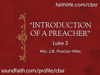 """Introduction of A Preacher"""