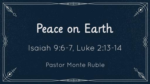Peace on Earth - January 3, 2021
