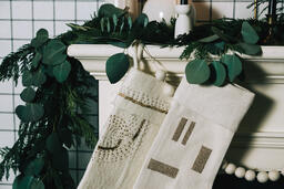 Fireplace Mantle with Stockings  image 3
