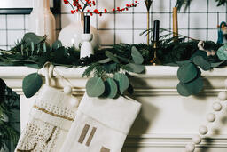 Fireplace Mantle with Stockings  image 1