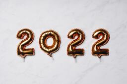 Metallic 2022 Balloons  image 2