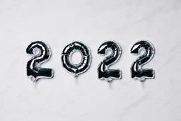 Metallic 2022 Balloons  image 1