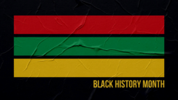Black History Month Stripes  PowerPoint image 1