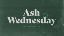 Ash Wednesday Chalk Board  PowerPoint image 1