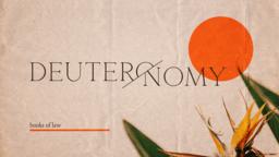 Deuteronomy Books of Law  PowerPoint image 1