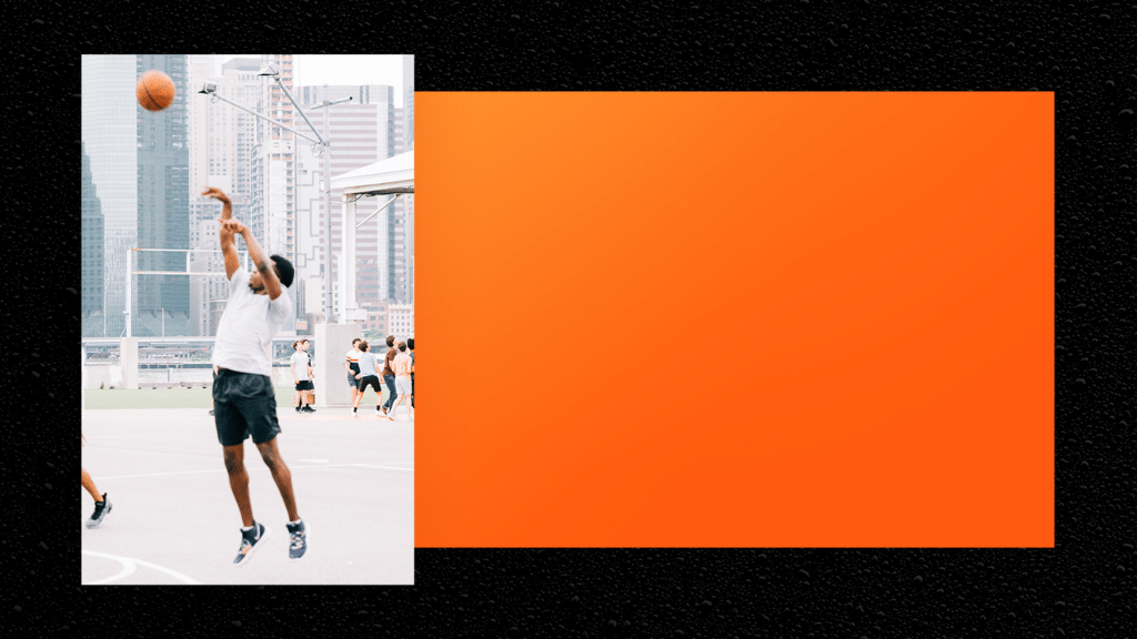 Basketball League Orange large preview