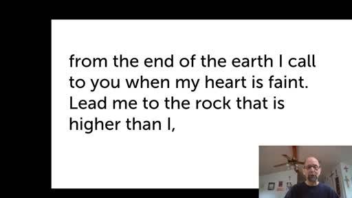Fri.  Jan. 8,  '21 Morning PPT Psalm 61