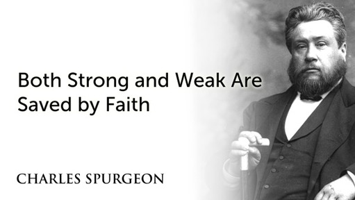 Both Strong and Weak Are Saved by Faith