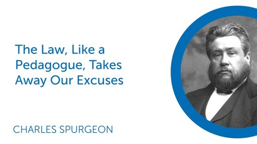 The Law, Like a Pedagogue, Takes Away Our Excuses