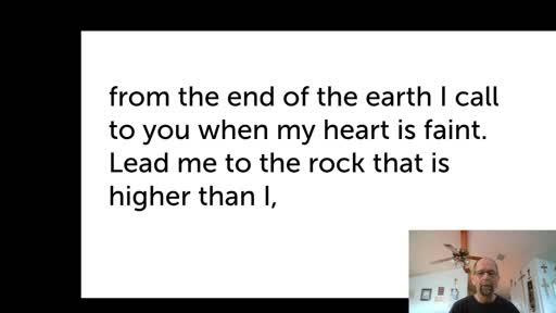Fri.  Jan 8,  '21 Afternoon PPT Psalm 61
