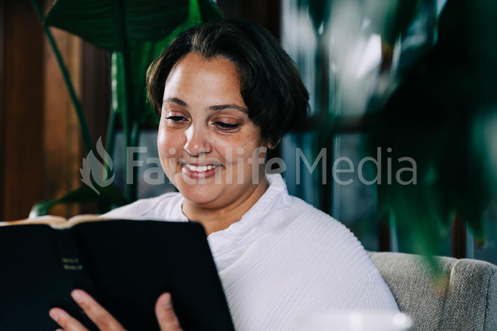 Woman Reading the Bible large preview